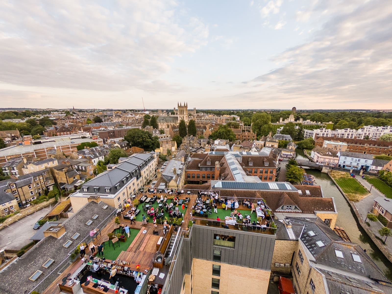 The Rooftop bar in Cambridge